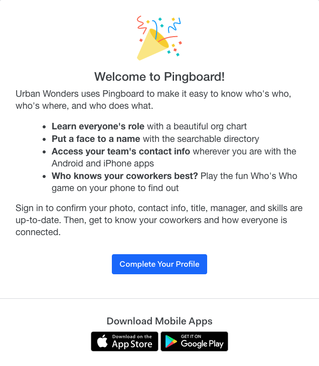 Go Live – Pingboard Help Center